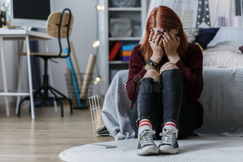 Jugendliche mit Problemen stockfotos