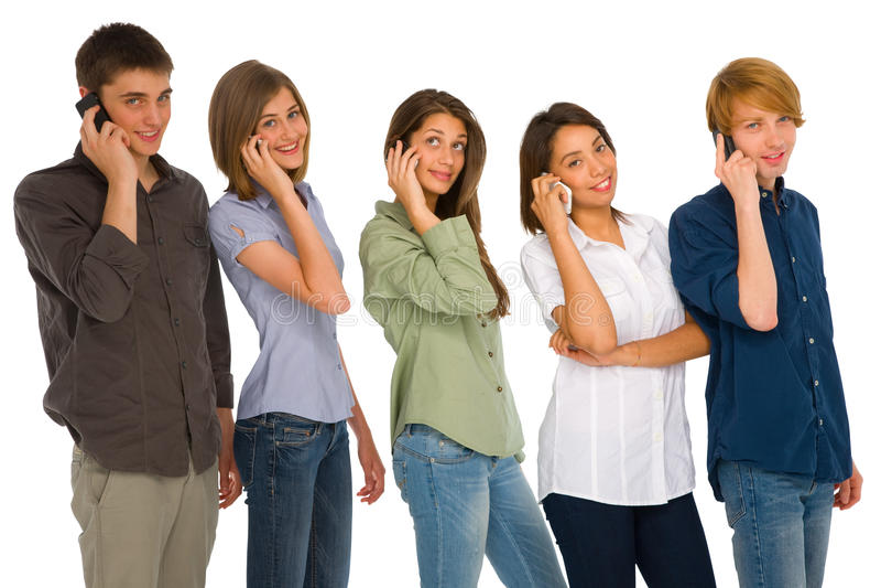 Jugendliche mit smartphone lizenzfreie stockfotos