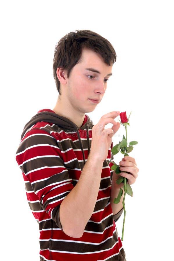 Jugendlicher in der Liebe stockbild