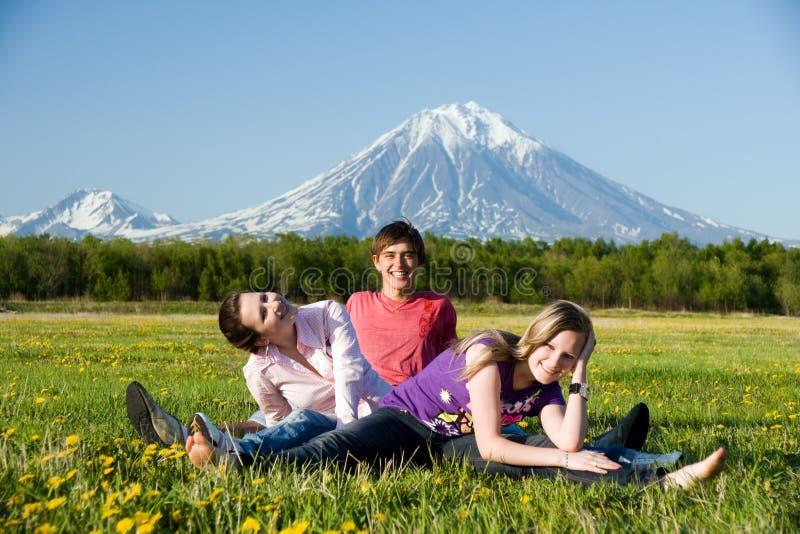 Jugendlicher drei stockbilder