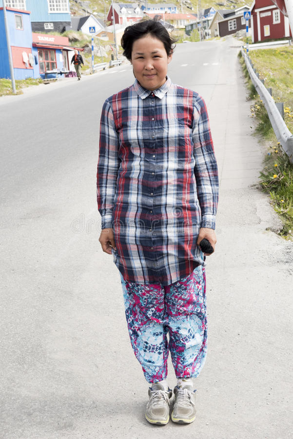 Jugendlicher in Grönland stockfotos
