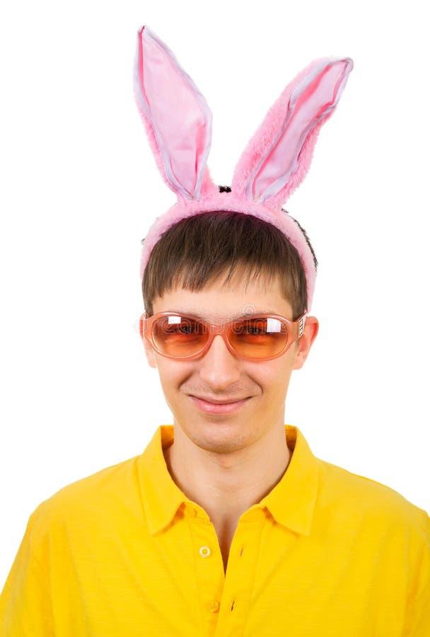 Jugendlicher mit Bunny Ears stockfoto