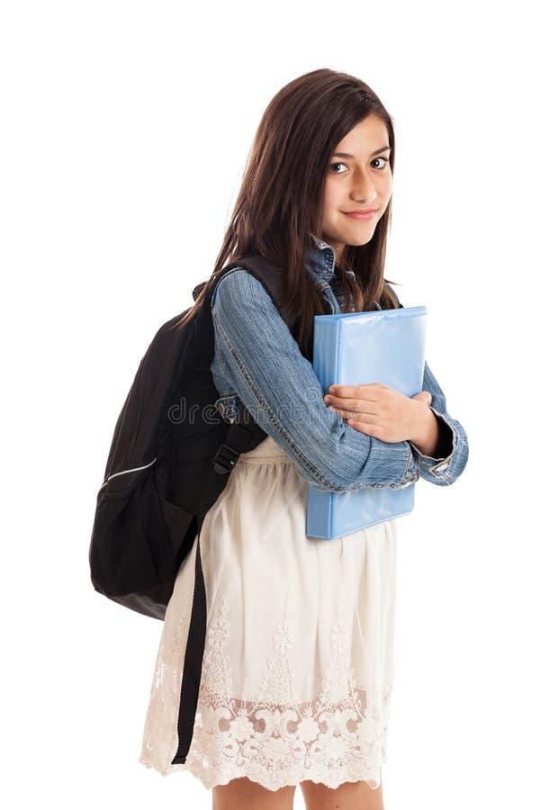 Jugendliches Schulemädchenportrait lizenzfreies stockbild