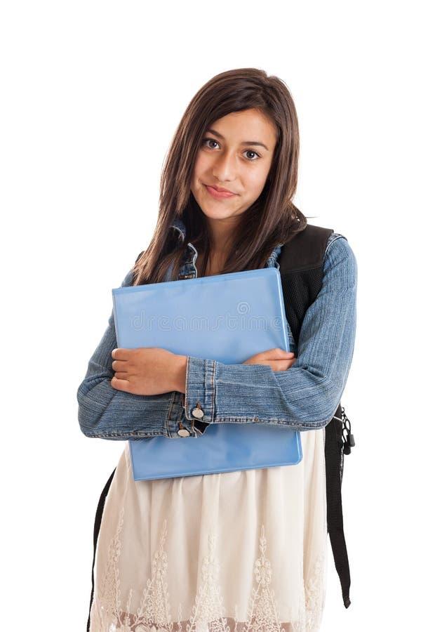 Jugendliches Schulemädchenportrait stockfotos