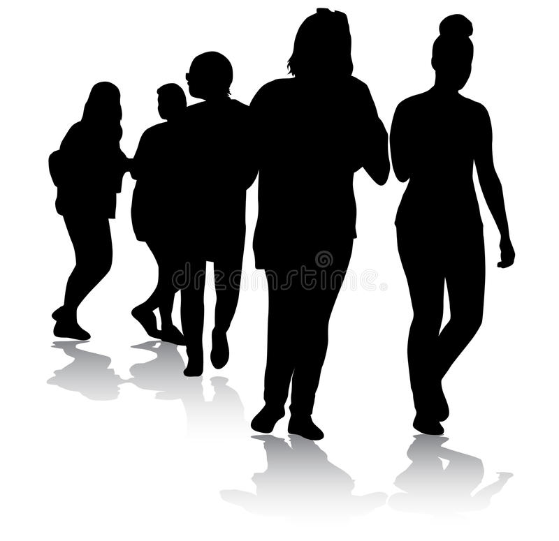 Jugendlichschattenbilder lizenzfreie abbildung