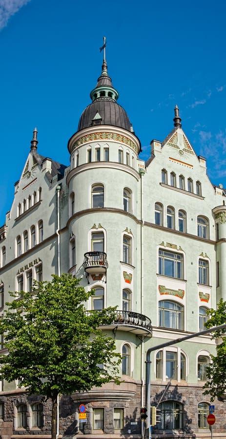 Jugendstil architecture stock image