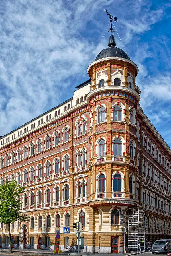 Jugendstil architecture stock photo