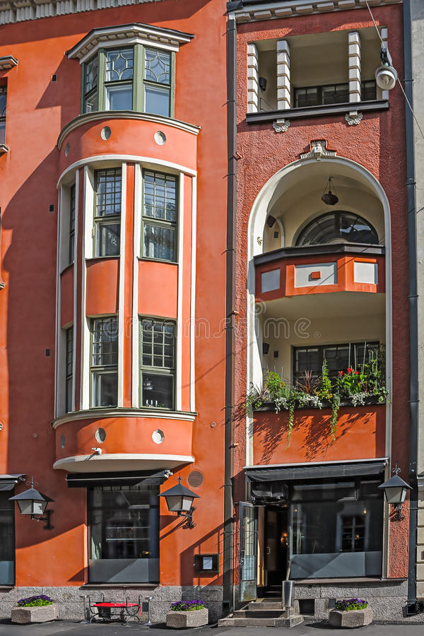 Jugendstil architecture stock photography