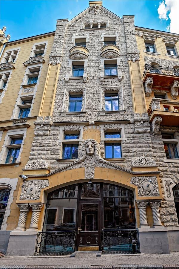 Jugendstil architecture royalty free stock images