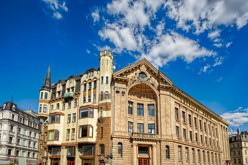 Jugendstil architecture stock image