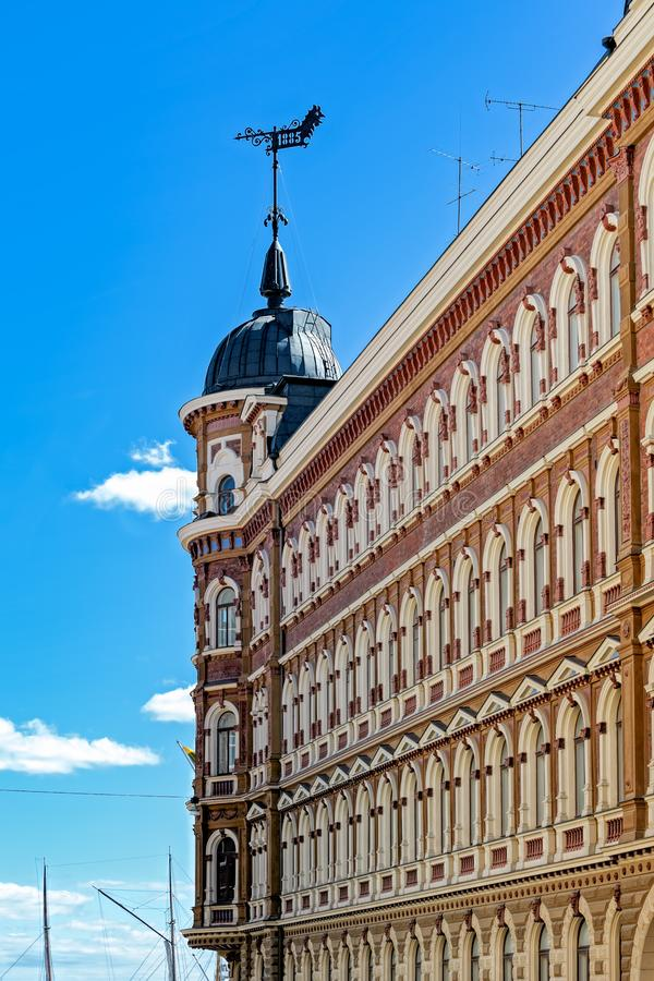 Jugendstil architecture in Helsinki stock photography