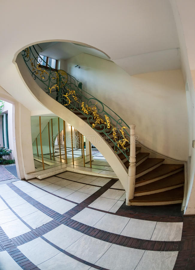 The Jugendstil - Art Nouveau - architecture of the Hackescher Ho. F in Berlin, Germany stock photos