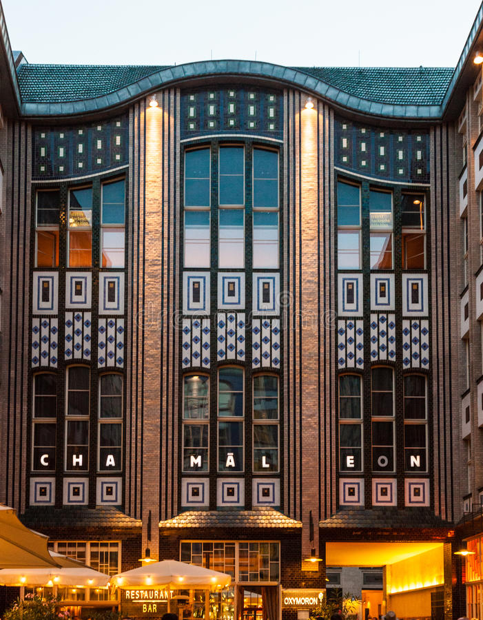 The Jugendstil - Art Nouveau - architecture of the Hackescher Ho. F in Berlin, Germany stock photo