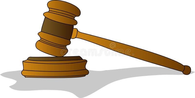 Jugez le marteau illustration libre de droits