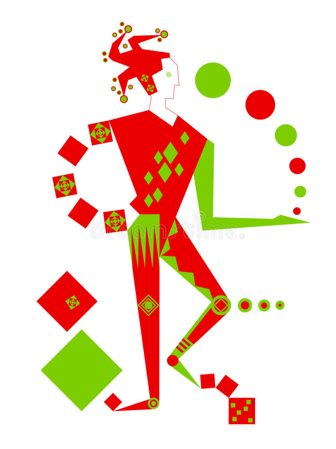 Download Juggle stock illustration. Image of clown, drawing, decoration - 13765510