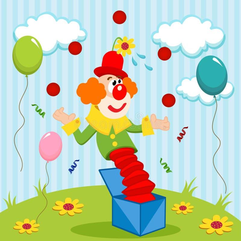 Juggler клоуна иллюстрация штока