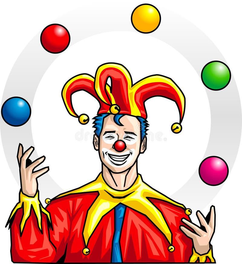 Juggler royalty illustrazione gratis