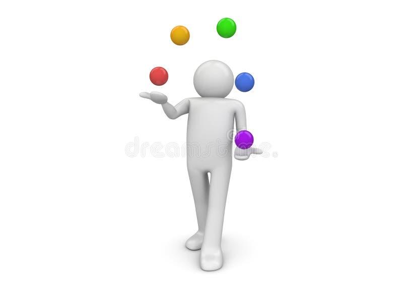 Juggler royalty-vrije illustratie