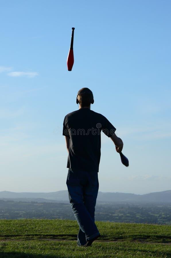 Juggler stock photography