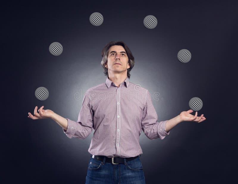 Juggler imagem de stock royalty free
