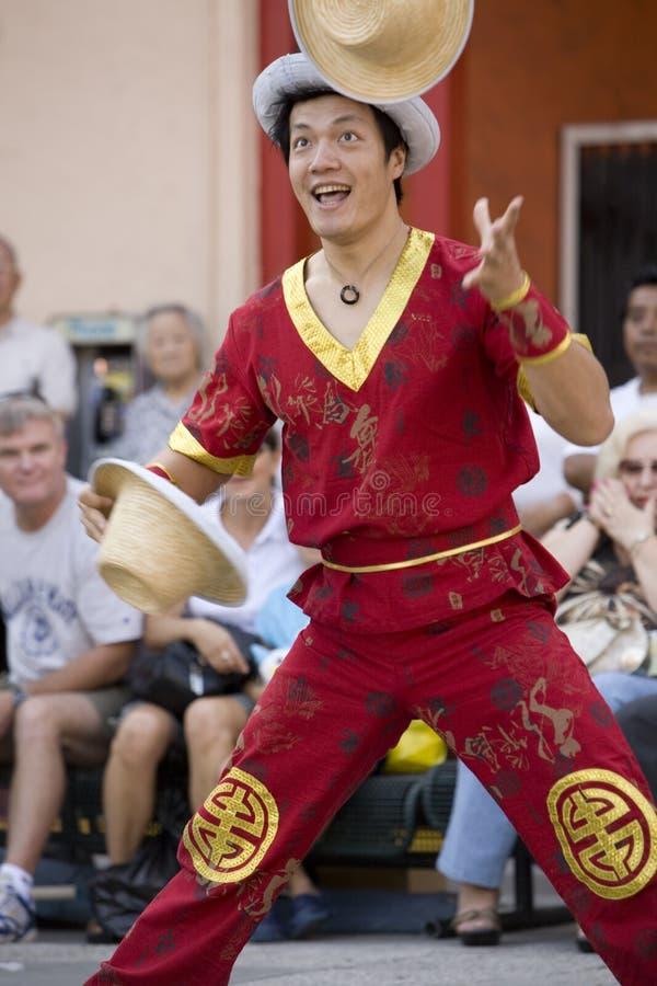 Juggler cinese 1 immagine stock