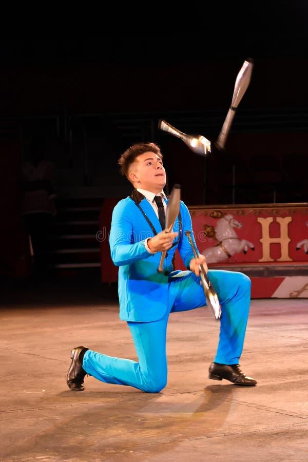 Juggler at Circus World Museum in Baraboo, Wisconsin royalty free stock image