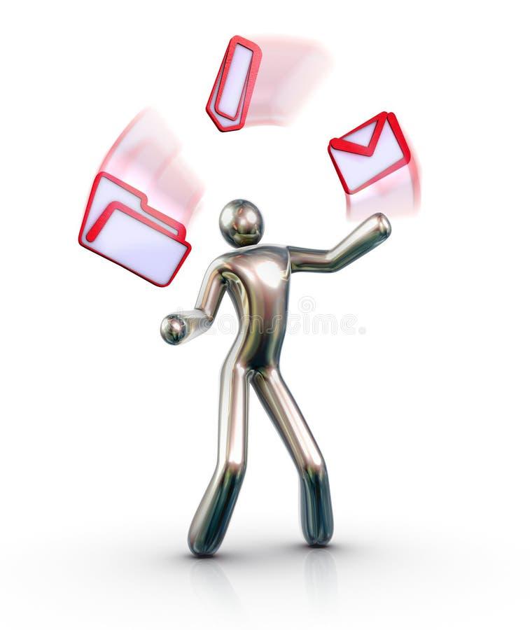 Juggler del email fotografia stock libera da diritti