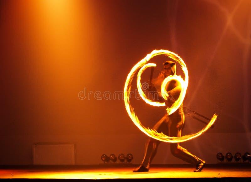 Juggler del fuoco fotografia stock libera da diritti