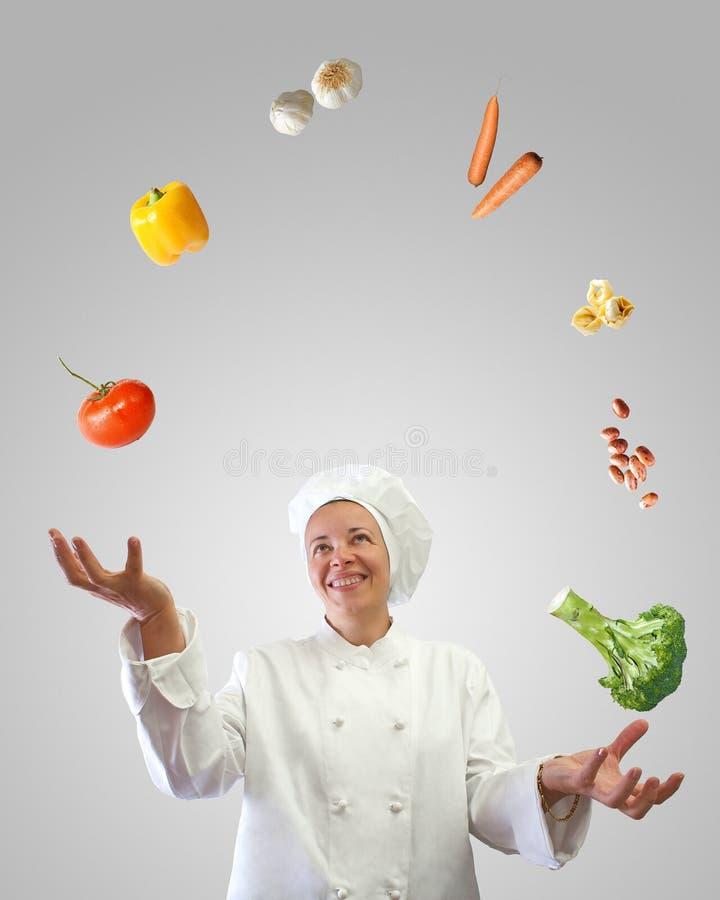 Juggler do cozinheiro foto de stock