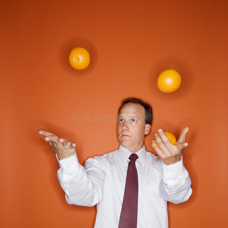 Juggler do negócio foto de stock royalty free