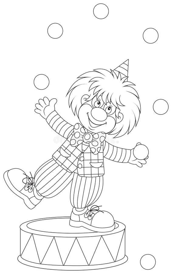 Juggler do palhaço ilustração stock