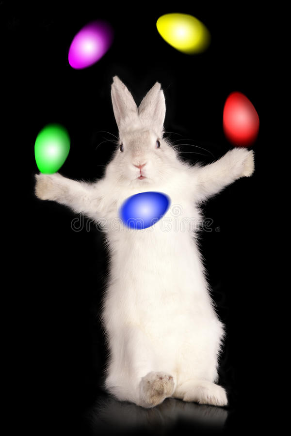 Download Juggler of easter eggs stock image. Image of blue, comic - 18965913