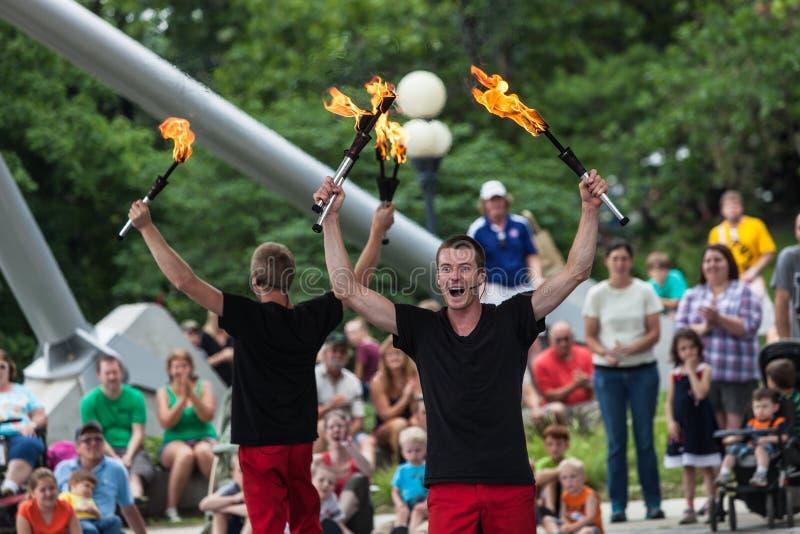 Jugglers at Iowa State Fair royalty free stock photo