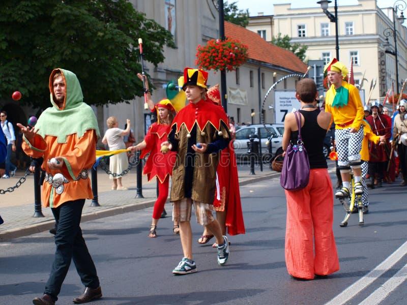 Jugglers, Lublin, Poland foto de stock