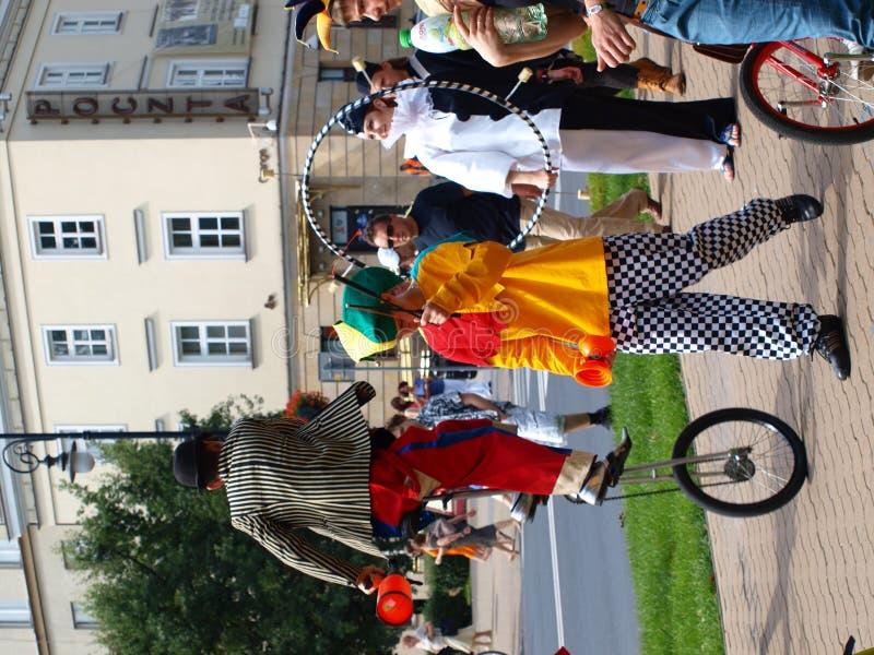Jugglers, Lublin, Poland imagens de stock
