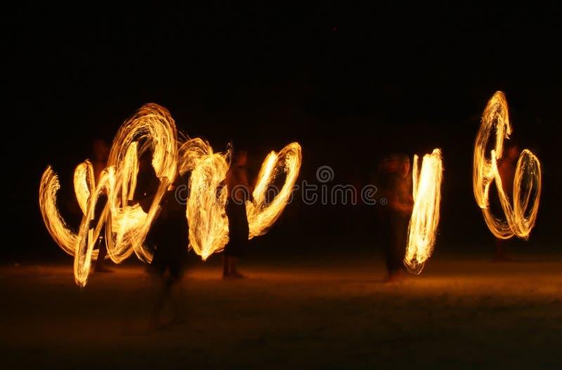 Jugglers van de vlam royalty-vrije stock fotografie