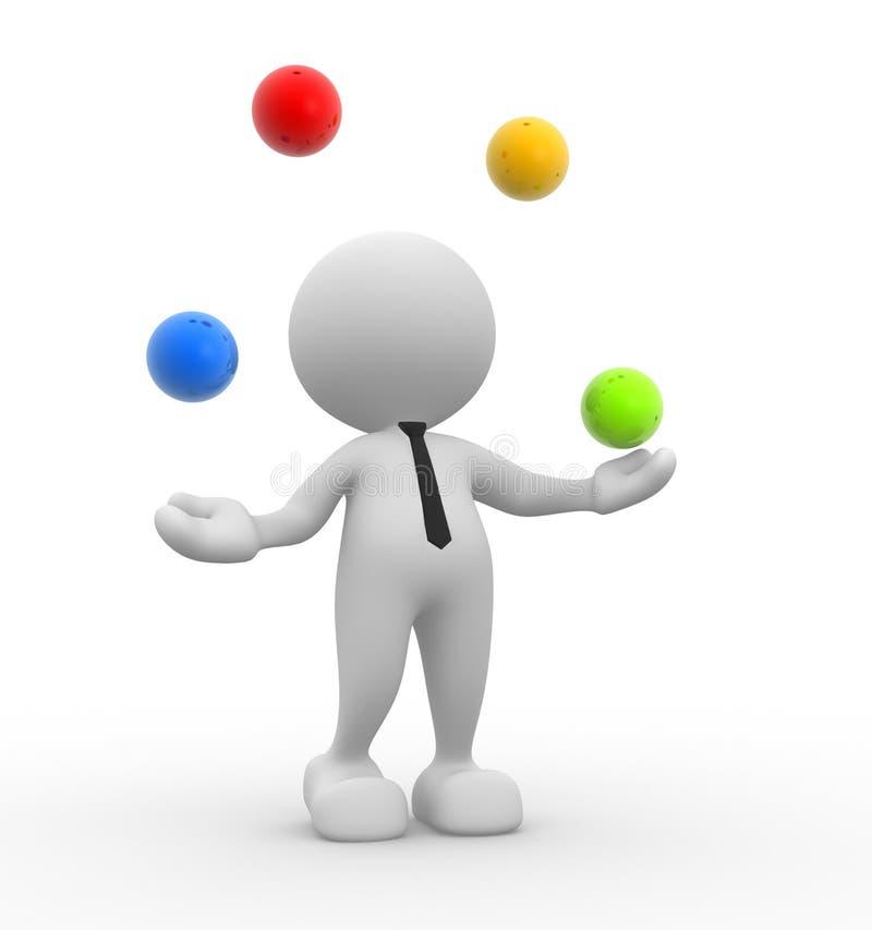 Download Jugglery stock illustration. Illustration of artist, concentration - 26816863