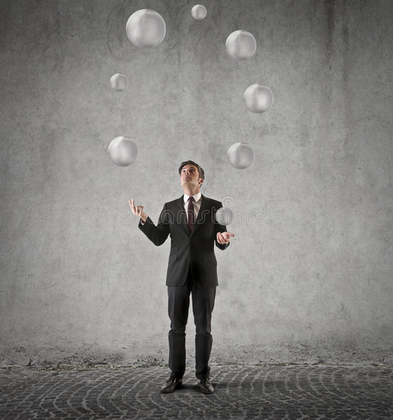 juggling royalty-vrije stock fotografie
