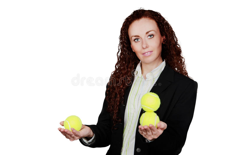 Juggling balls royalty free stock photography
