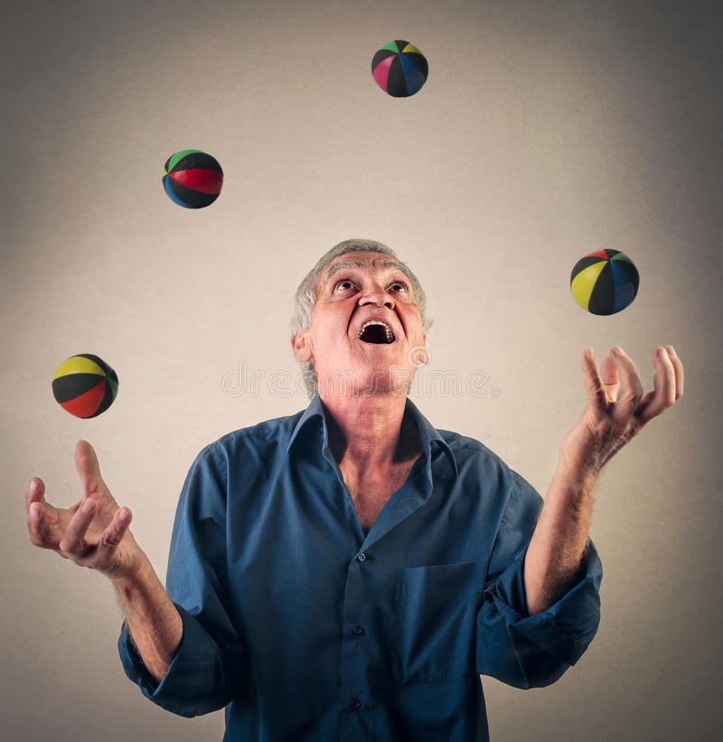 Juggling with balls royalty free stock images