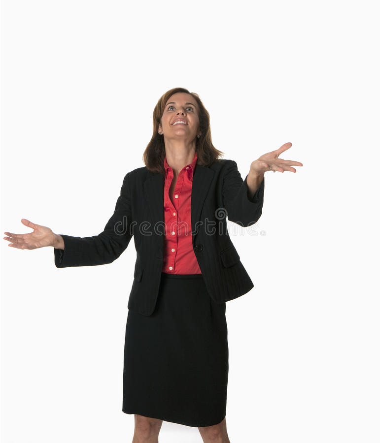 Juggling business woman royalty free stock photos