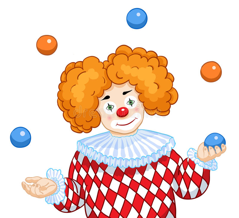 Download A Juggling Clown stock vector. Image of card, colorful - 24527861