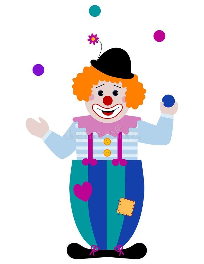 Juggling Clown Royalty Free Stock Photos