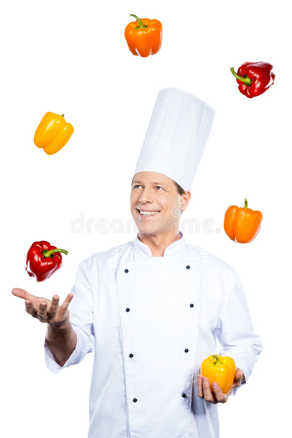 Juggling with colors. stock images