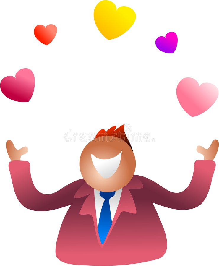 Juggling love stock illustration