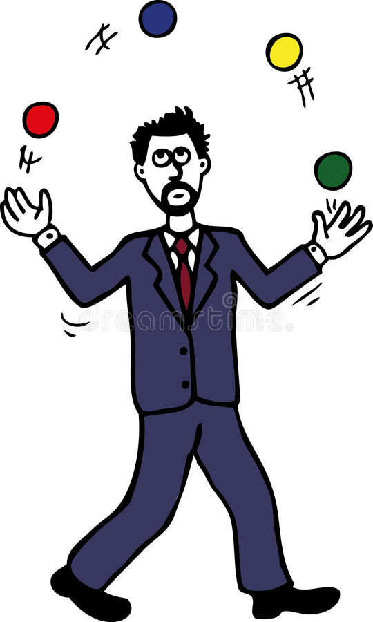 Download Juggling Man stock vector. Image of time, vector, symbol - 22409634