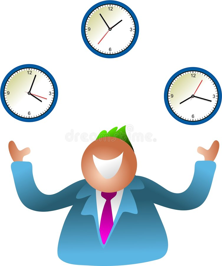 Juggling Time Royalty Free Stock Photography