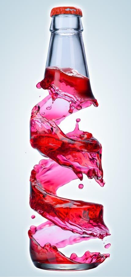Jugo de fruta en una botella stock de ilustración