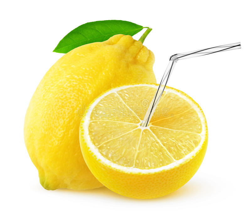 Jugo de limón aislado fotos de archivo