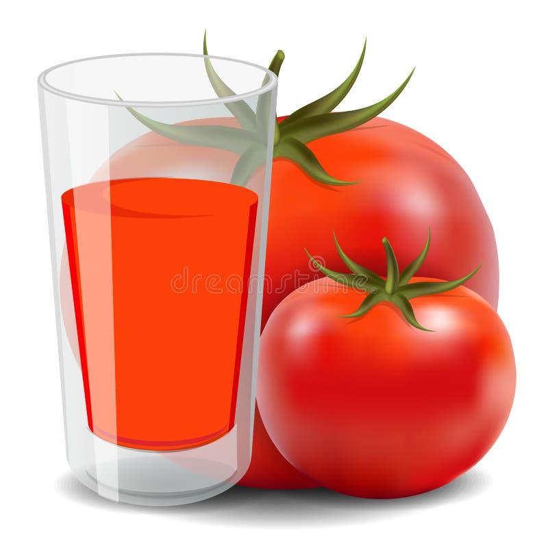 Jugo de tomate ilustración del vector